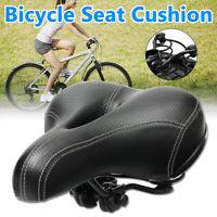 Wide Big Bum MTB Road Bike Saddle Bicycle Cycling Seat Cushion Pad Soft Comfort