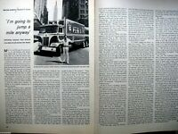 1971 Evel Knievel 2 Page Article & Picture & Original 8.5 x 11""