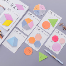 Geometry Sticker Post Bookmark Marker Memo Flags Index Pad Tab Sticky Notes