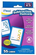 Mead Lot 2.1Subtraction k-3&1Multiplication Grades 2-4 Flashcards 55 cards each