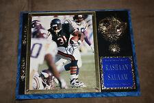 Rashaan Salaam signed Chicago Bears Photo In Plaque Auto