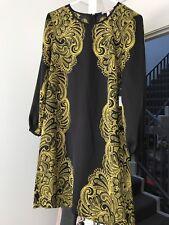 Brand new Juicy Couture pitch black boho paisley dress size 0