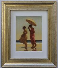 Rosa E ZAFFERANO da Jack Vettriano incorniciato & montato Art Print PICTURE GOLD