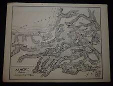 CROQUIS MILITAIRE CAPITAINE PICARD 1886 SAUMUR GUERRE TURCO-RUSSE 1877 ARMENIE