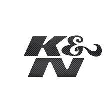 K&N KN K and N 25x50mm CARBON FIBRE Sticker no BG