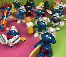 Lot Of 20 Smurfs, all from the 70s, some fairly rare. Peyo. Schleich.