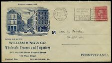 "1921 2¢ ""WILLIAM KING & Co. WHOLESALE GROCERS & IMPORTERS"" VF ADVT COVER BQ2684"