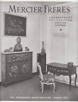 Publicité ancienne ameublement Mercier Frères 1947 issue de magazine