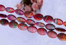 Red stripe 13x18MM  Turkey Turquoise Gemstone Oval Loose Beads 15''