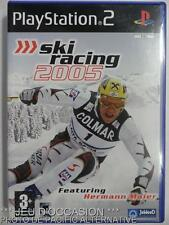 COMPLET Jeu SKI RACING 2005 playstation 2 sony PS2 francais game sport maier