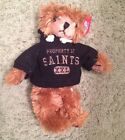 "NEW ORLEANS SAINTS football TEDDY BEAR stuffed animal plush 8"" NFL Hoodie"