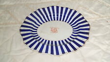 C4 Pottery Royal Worcester? Victorian Blue Ware Serving Plate 25x21cm 2C3A