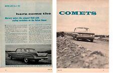 1960 MERCURY COMET ~ ORIGINAL 4-PAGE ARTICLE / AD