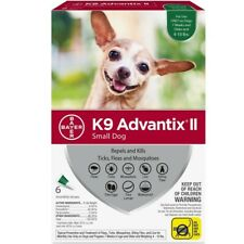 K9 Advantix II Flea and Tick Treatment for Small Dogs, 6 Monthly Treatments NEW