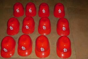 Lot (12) St. Louis Cardinals Mini Batting Helmet Ice Cream Sundae Snack Bowls