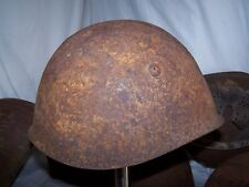 Battlefield Pickup: Italian M33 helmet shell w/the distinctive It. vent rivets.