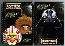 Angry Birds Star Wars Set of 2 Small Spiral Notebooks!  NEW NIP
