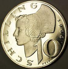 1966 Austria 10 Shillings Gem Proof Silver Coin