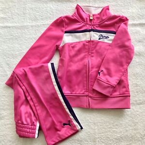PUMA Toddler Girls 3T Setup jersey pants pink Authentic Cute Warm Athletic