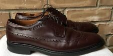 Dack's Dufferin Burgundy Leather Wing Tip Dress Shoes England 10F 10.5 US