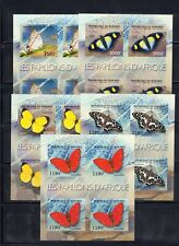 """BURUNDI """"Butterflies of Africa"""" 5 sheets imperforate OBP2039/43 cat.val=144.00€"""