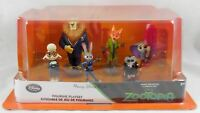 New Disney Store Zootopia PVC Figure Playset Figurine Play Set 6 Pc Cake Topper