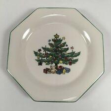 Box of 4 Nikko Christmastime Snack Dish/Coaster Saucer Plates Octagon Christmas
