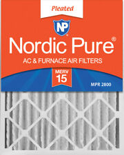 Nordic Pure 20x25x4 (3 5/8) Pleated Merv 15 Air Filters 2 Pack