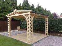 wooden gazebo,pergola,jacuzzi hot tub cover 3mx2,4m