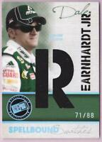 """DALE EARNHARDT JR. 2010 PRESS PASS SPELLBOUND """"R"""" RACE USED CAR COVER #71/88"""
