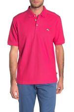 NWT Tommy Bahama Men's SZ S Glazed Rasberry Emfielder 2.0 Polo Shirt