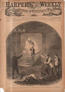 1866 Harpers Weekly Original  print only - Race riots in New Orleans begin