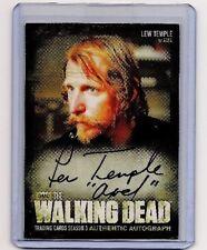 WALKING DEAD SEASON 3 PART 1 LEW TEMPLE/AXEL AUTOGRAPH CARD INSCRIPTION VARIANT!