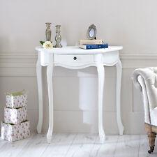 In Legno Bianco Mezza Luna Consolle Stile Shabby Francese chic paese soggiorno