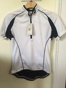 New Women's Specialized RBX Sport Jersey Short Sleeve Size Small White w/Black