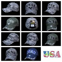 USA Air Force Hat Military Baseball Cap Veteran Retired Caps USAF Wing Logo
