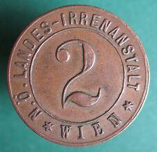 Old rare Austria token - Wien - mental hospital - 2 - 33863.4- -mehr am ebay.pl