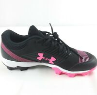 Under Armour Glyde Women's Softball Cleats Black/Pink Size 8 ART1297334- 064