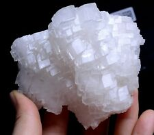 343g Beautiful Rare Ladder-Like White Calcite Crystal Mineral Specimen/China