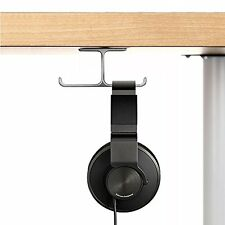 Apphome Aluminum Headphone Stand Holder, Stick-On Hooks Under-Desk Headphone for
