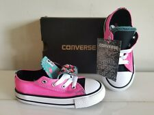 NEW Toddler Girl CONVERSE Two Style Sneakers, Size 10 INFANT(16.5cm) = 10c Pink