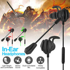 In-Ear Gaming Headphone Gaming Earbuds w/ Mic Volume Control For iPhone Samsung