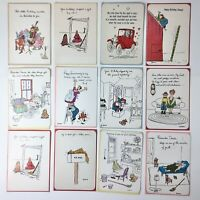 Lot of 12 George Booth UNUSED Vintage Greeting Cards Birthday Anniversary etc.