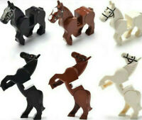 3 X Knight War Horse Mini Figure Without Saddles Custom Lego Horse Minifigures