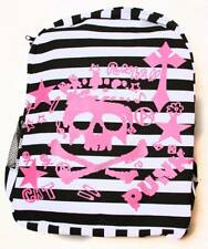 Clover Black and White Striped Backpack - Skull Punk Rock and Roll