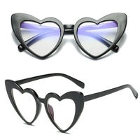New Women Fashion Retro Lolita Heart Shaped Sunglasses Shades Vintage Eyeglasses