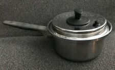 """Ekco Prudential 7"""" Tri-Clad Stainless Steel Pot with Vented Lid Cookware Pan"""