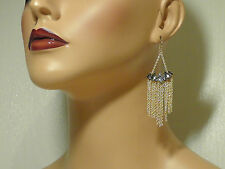 Marquise Wire Drop Earrings.*New* Alexis Bittar Gold Elements Fringe