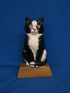 "Vtg. 12.25"" Cast Iron Kitten Cat Doorstop For Restore As Is Maybe Hubley"