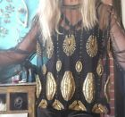 Sass & Bide The Foreigner GALLERY Mesh Embellished Top sz 36 (6-10)